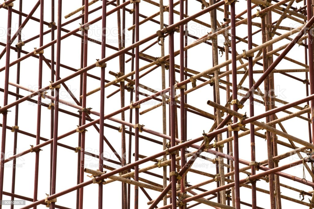 scaffolding conected stock photo
