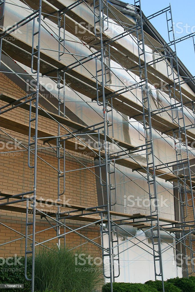 Scaffolding for Church Construction royalty-free stock photo