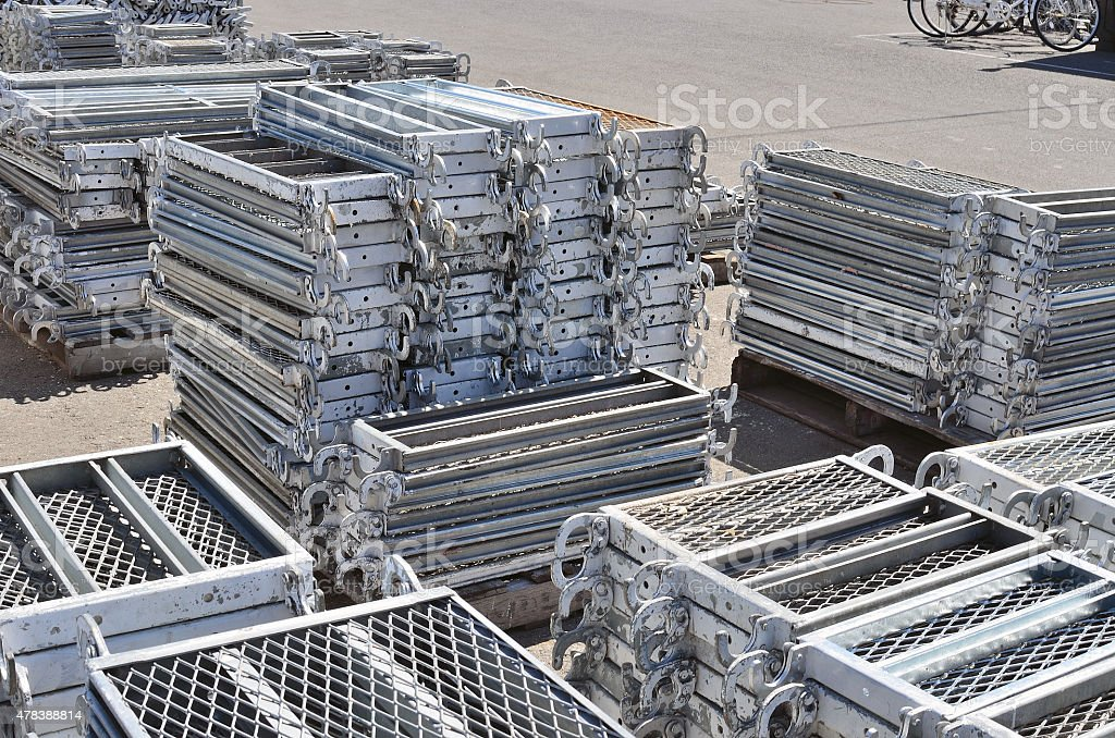 Scaffolding Materials Storage Royalty Free Stock Photo