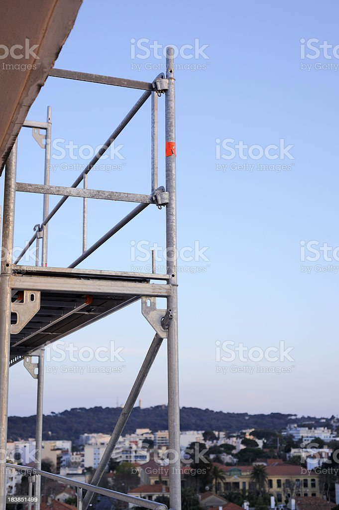 Scaffolding on Highrise Building royalty-free stock photo