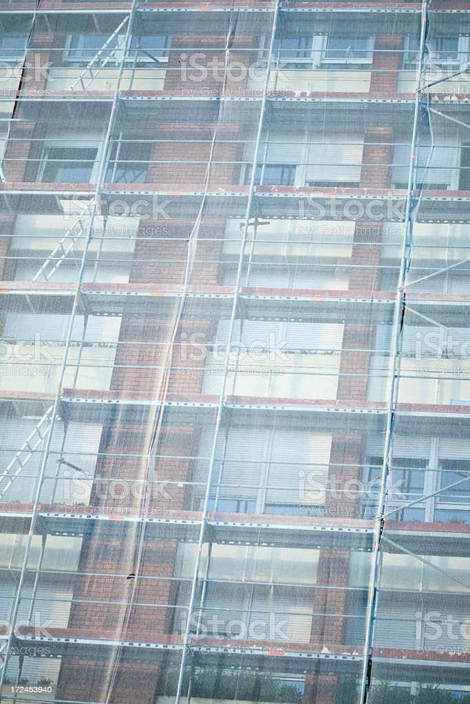 scaffolding royalty-free stock photo