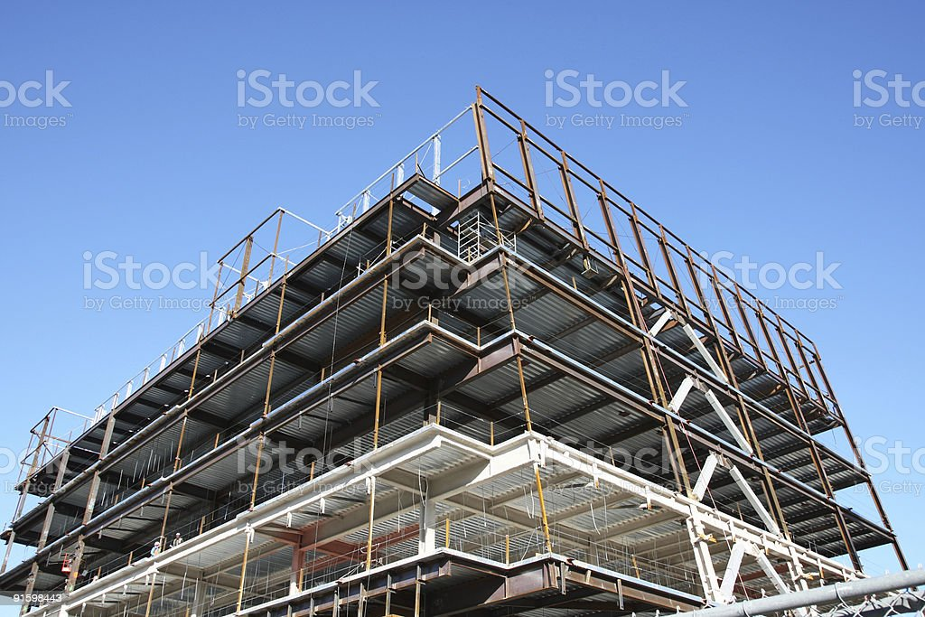 Scaffoldings in building under construction royalty-free stock photo