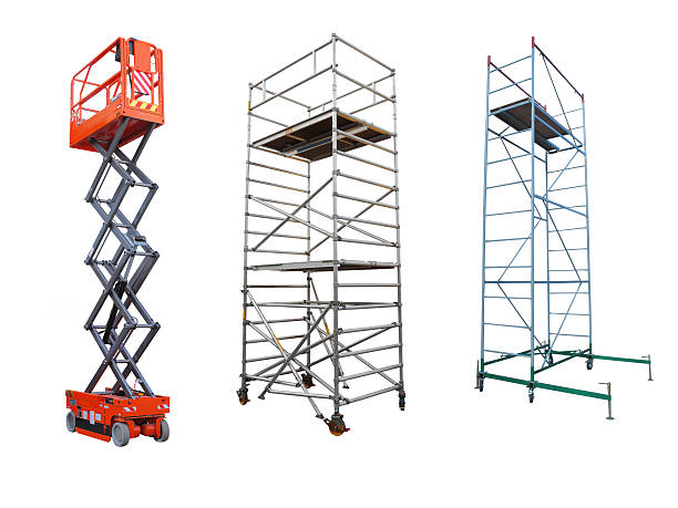 scaffolds and lift The image of scaffolds and lift under the white background scaffolding stock pictures, royalty-free photos & images