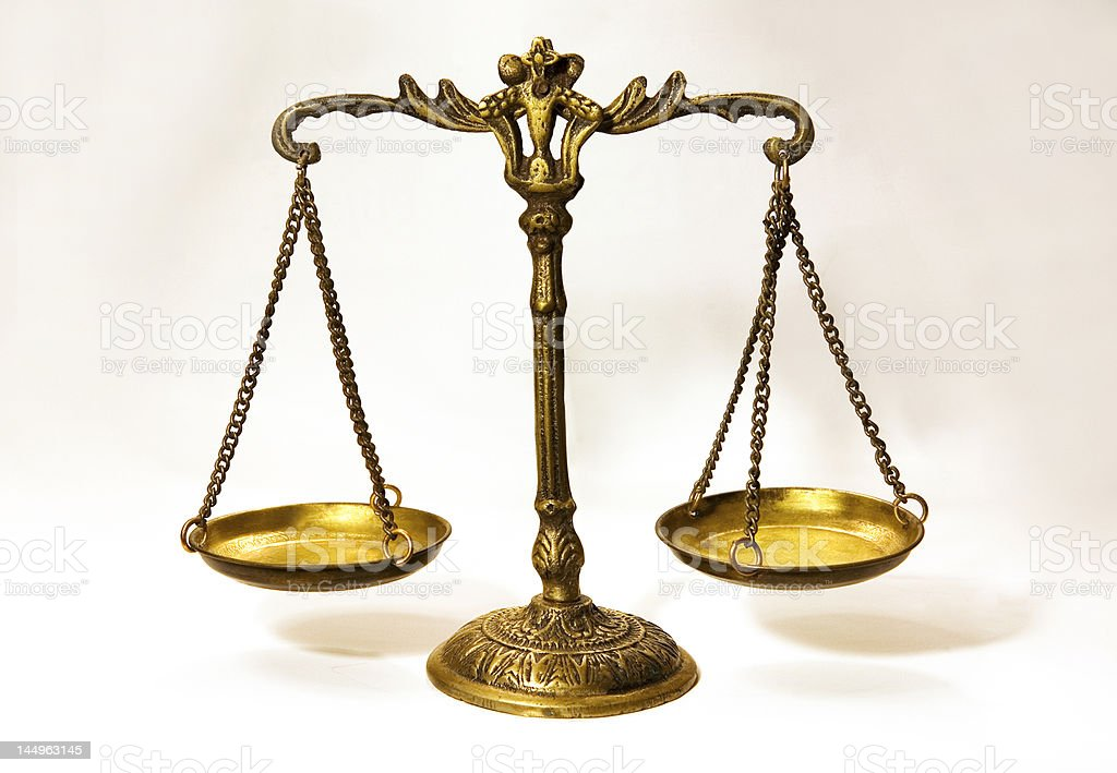 Scale and Justice royalty-free stock photo