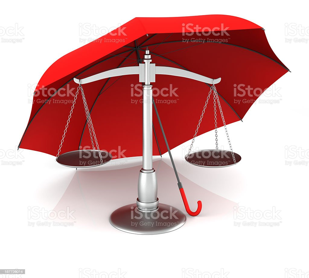 Scale and Umbrella royalty-free stock photo