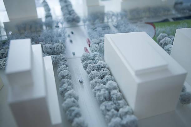 Scale model city stock photo