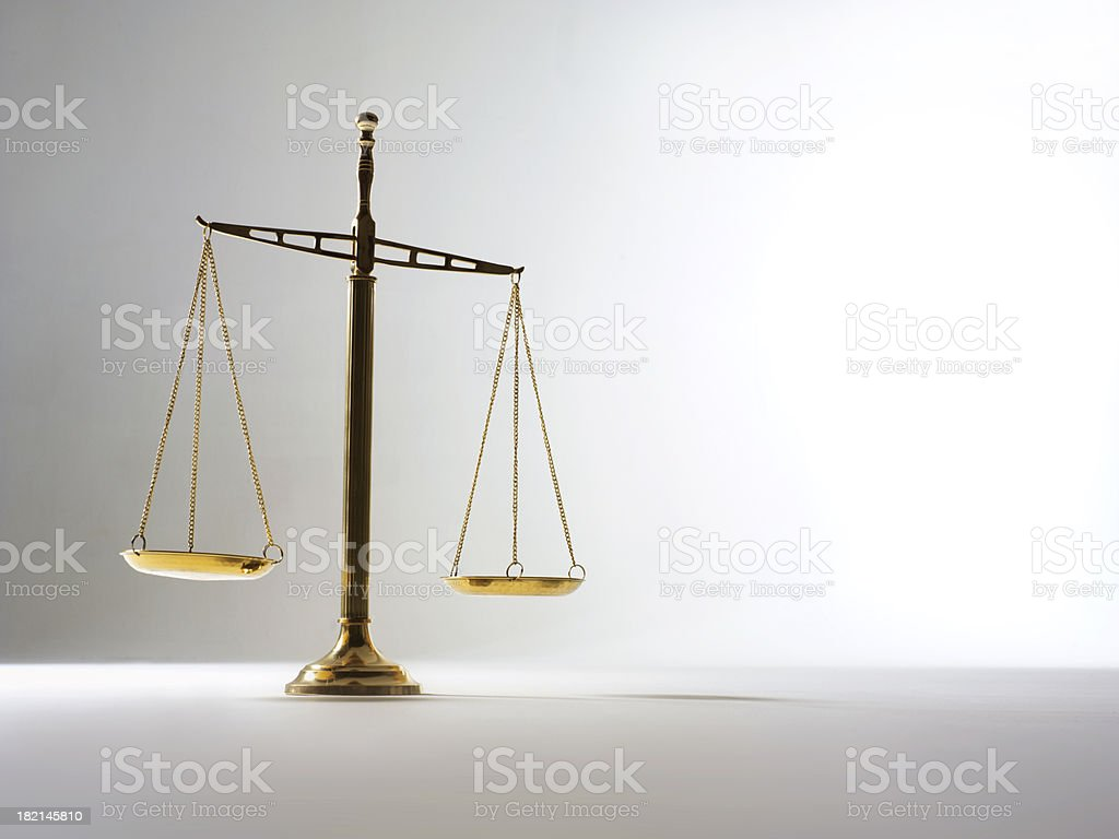 Scale of Justice 3 royalty-free stock photo