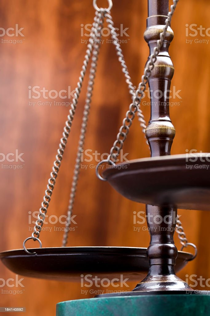 Scale of Justice stock photo