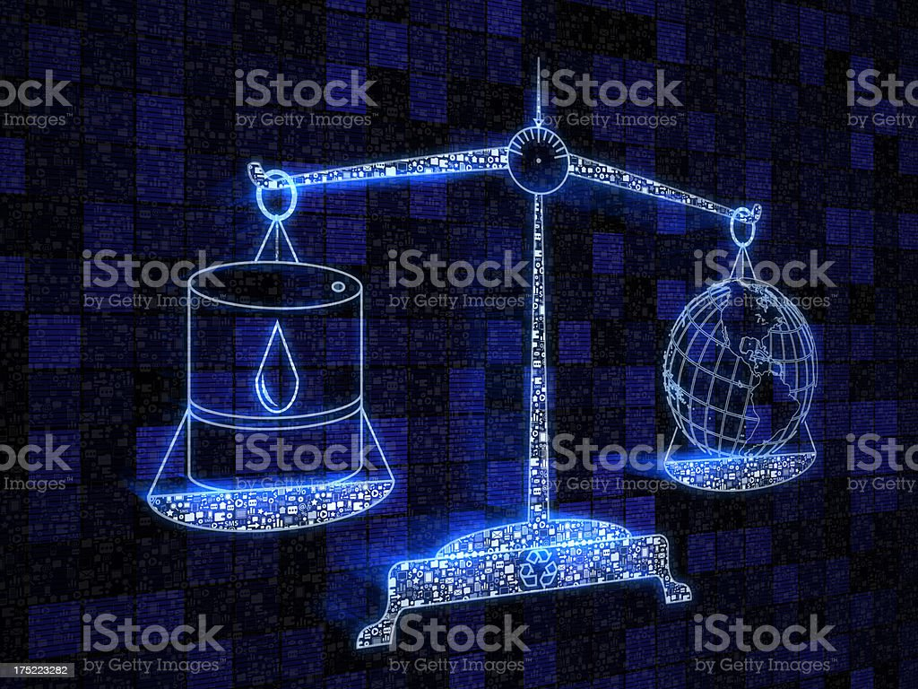 Scale oil or planet stock photo
