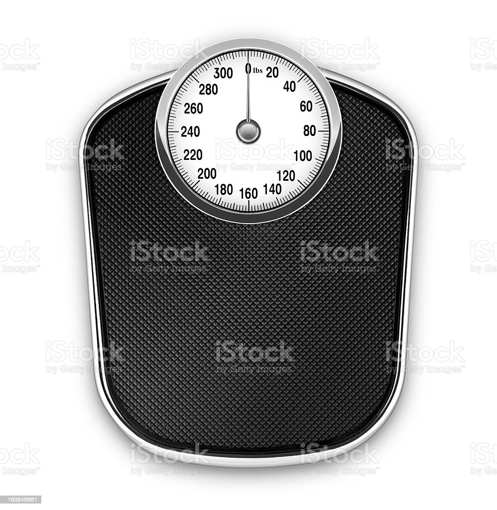 Scale (lbs) (with Clipping Path) stock photo