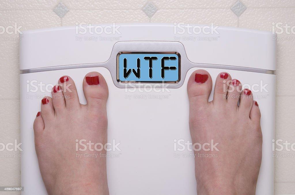 WTF escala - Foto de stock de Adulto libre de derechos