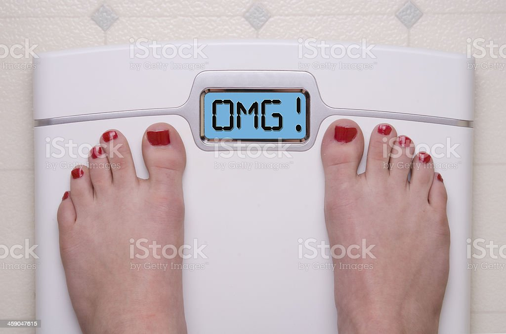 OMG Scale royalty-free stock photo