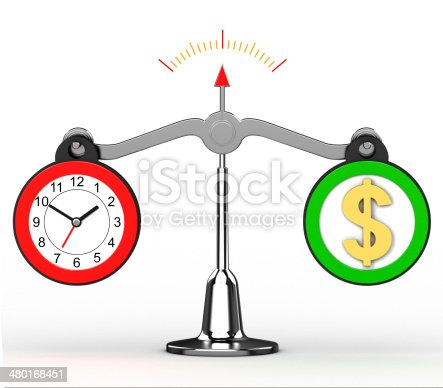 istock scale with clock and dollars 480168451