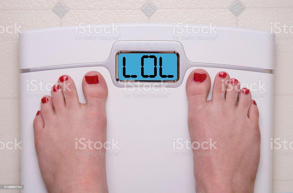 Jo, jo, jo escala con patas - foto de stock