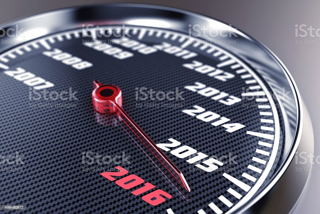 Scale with years stock photo