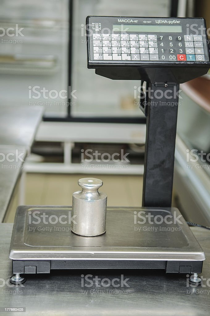 scales in the shop royalty-free stock photo