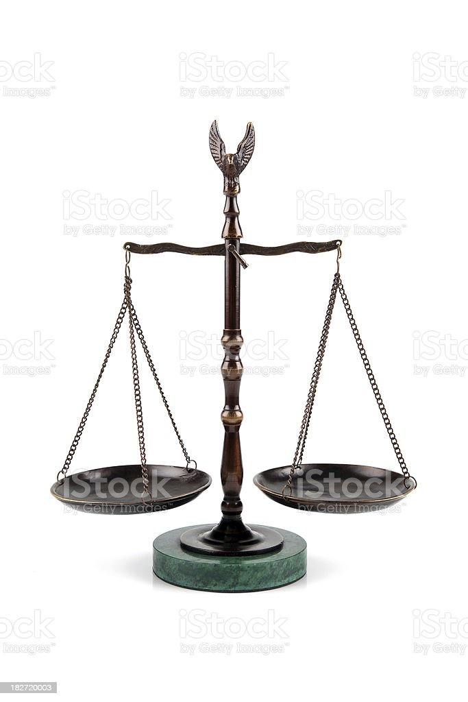 Scales of justice balance stock photo