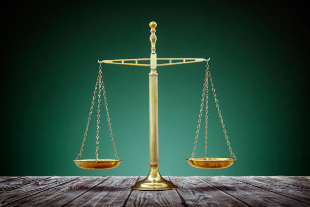 Scales of justice equality stock photo