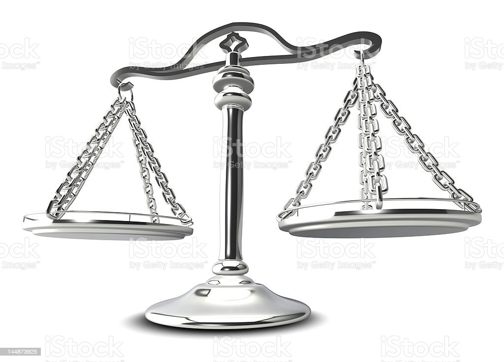 (3d) Scales of justice royalty-free stock photo