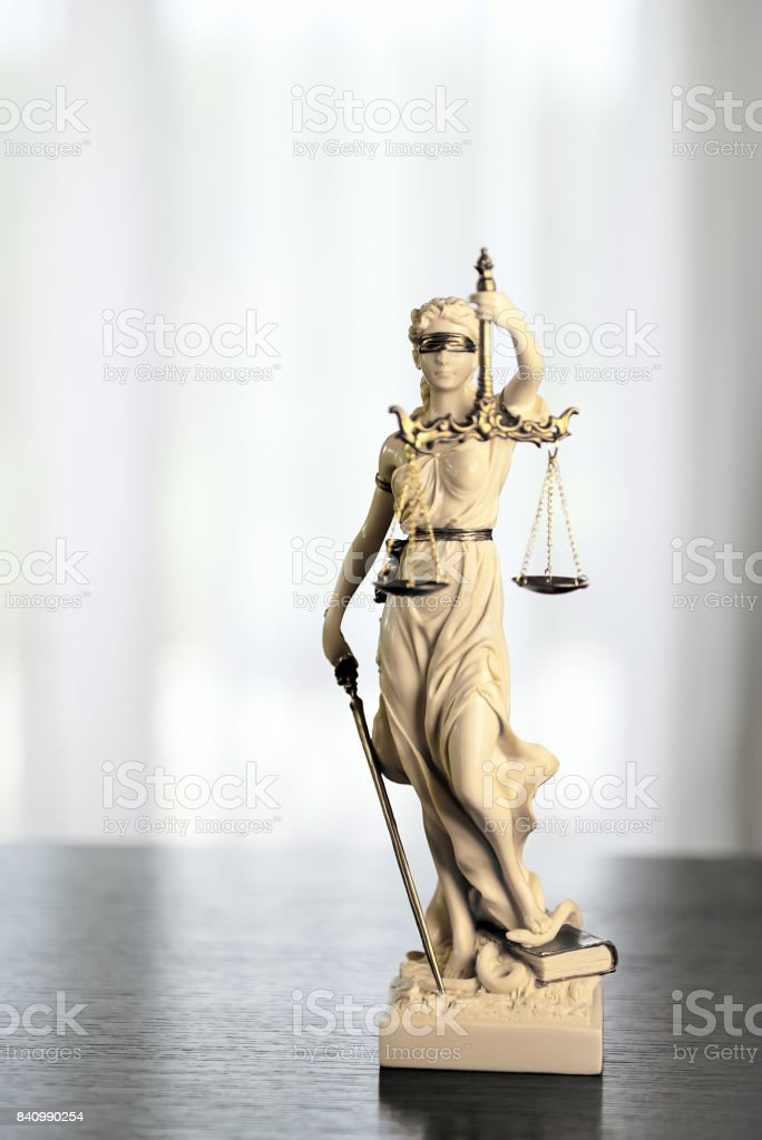 Scales of Justice symbol - legal law concept image stock photo