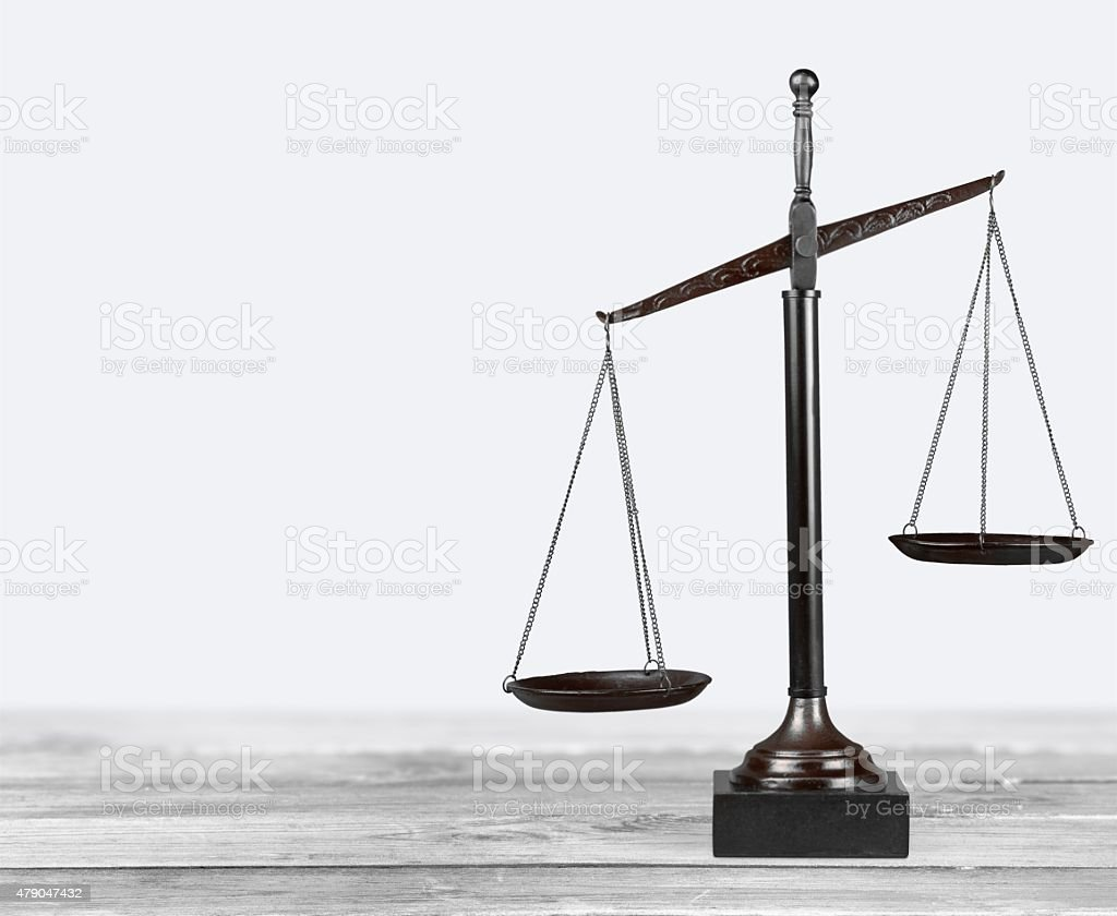 Scales of Justice, Weight Scale, Balance stock photo