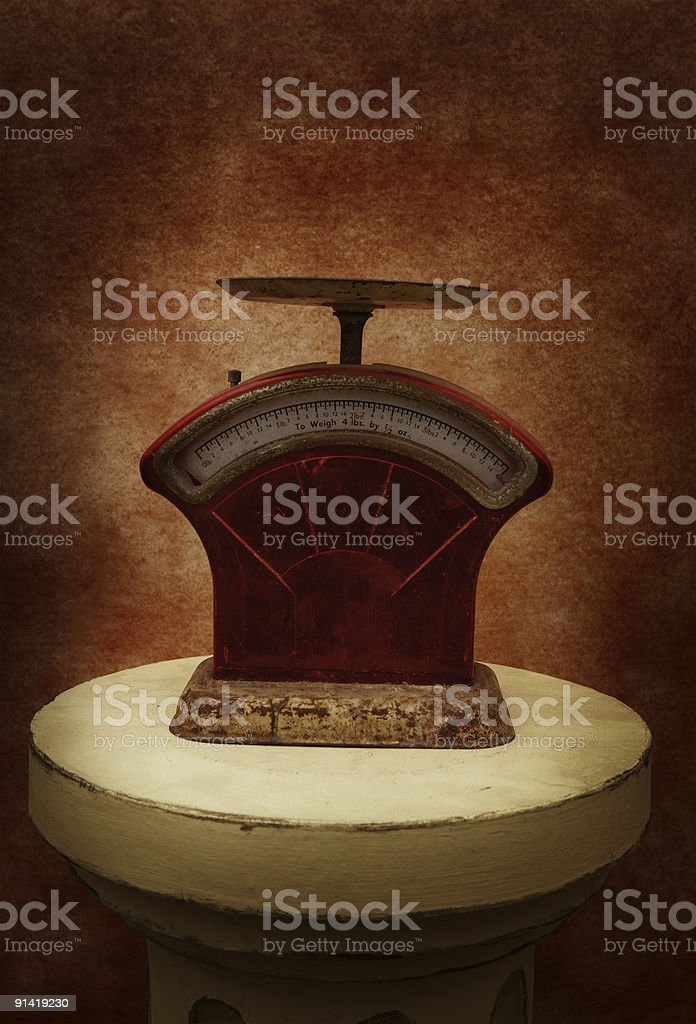 Scales on a pedistal royalty-free stock photo