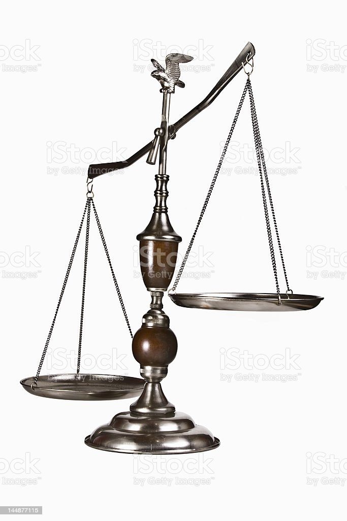 Scales (isolated) royalty-free stock photo