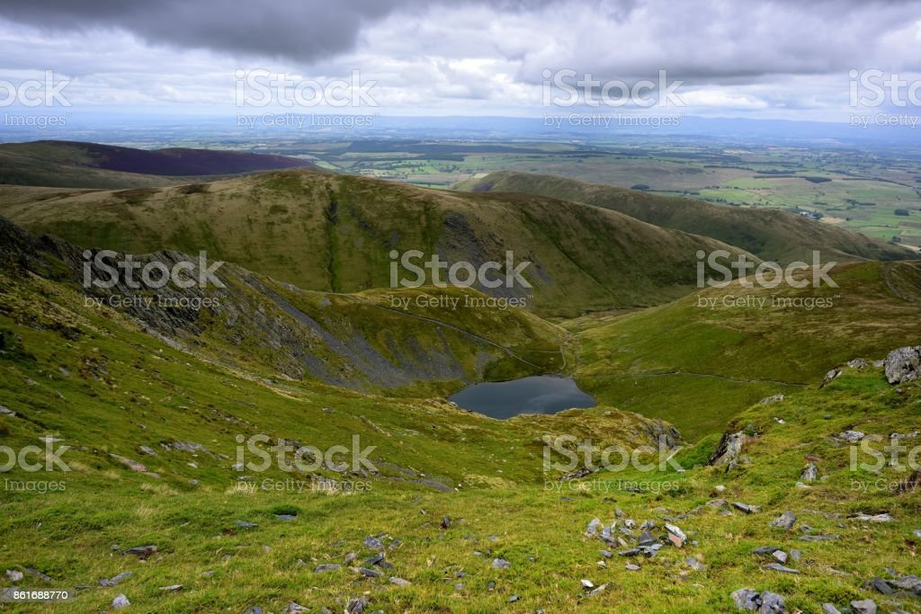 Scales Tarn from Blencathra stock photo