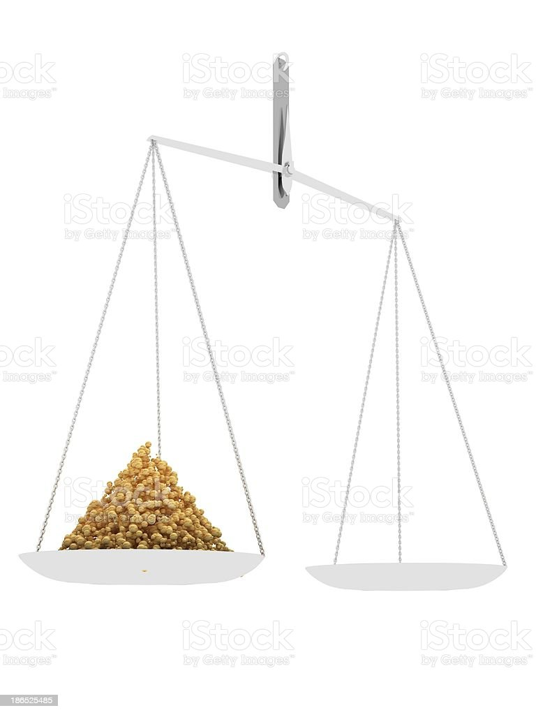 Scales with granules royalty-free stock photo