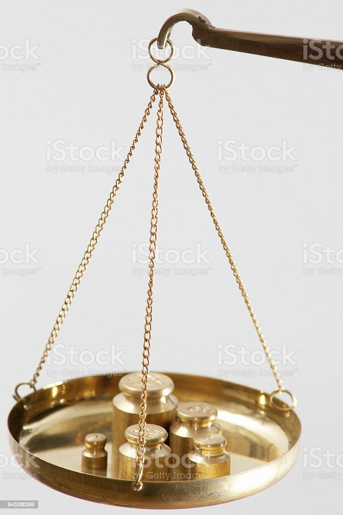 Scales with metal royalty-free stock photo