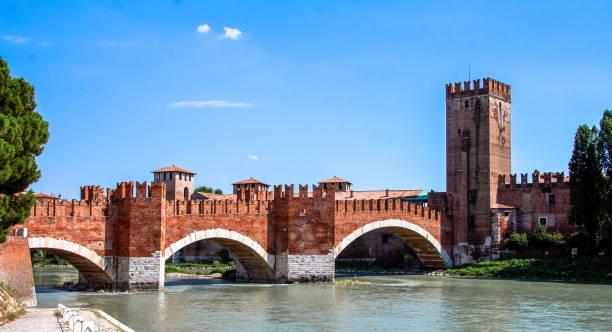 Scaliger Bridge. Verona, Veneto / Italy stock photo