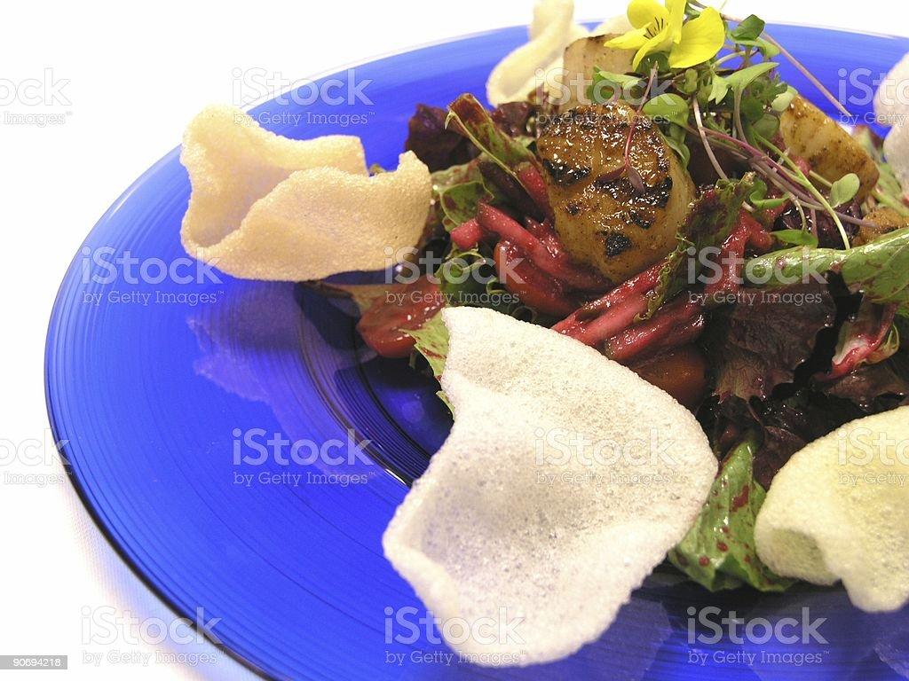 Scallops Salad royalty-free stock photo