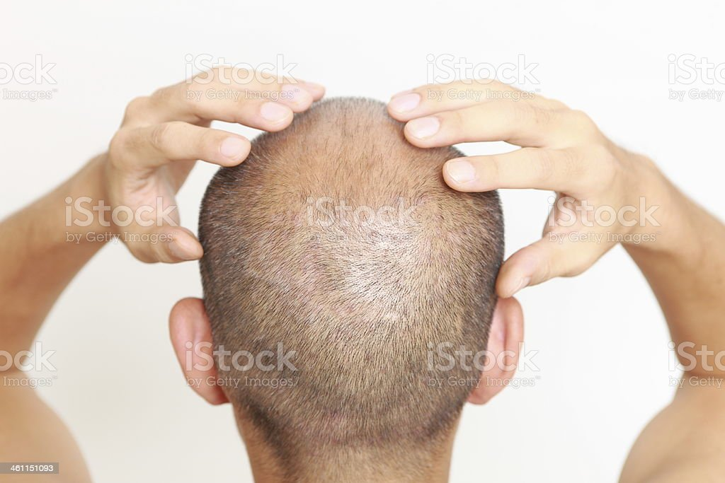 scalp massage royalty-free stock photo