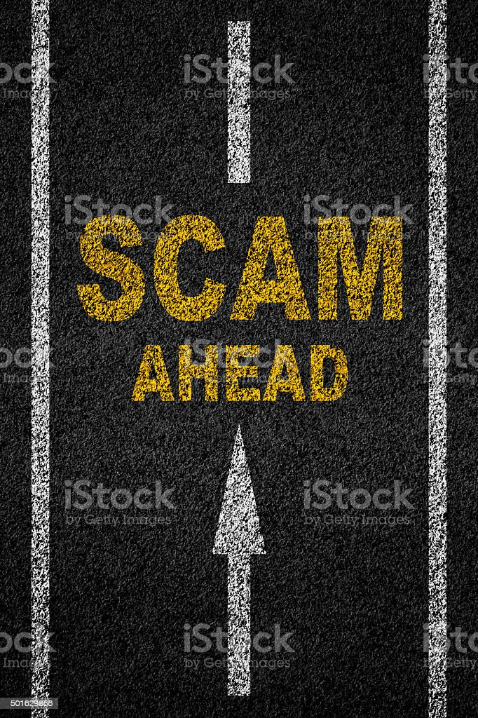 scam ahead stock photo