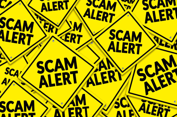 Scam Alert stock photo