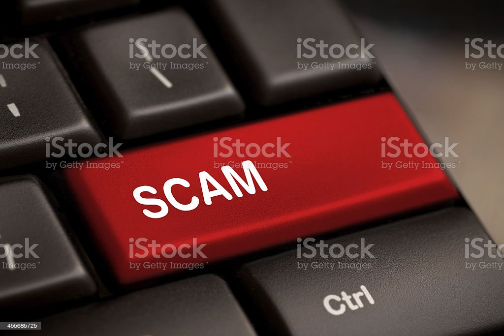 Scam Computer Key stock photo