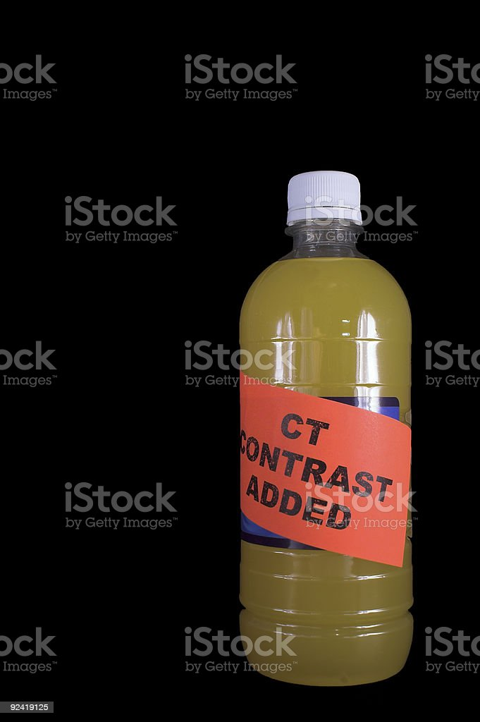 CAT Scan Contrast stock photo