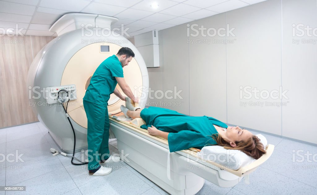 MRI scan of a foot. stock photo