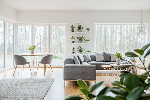 Scandi Living Room Interior Stock Photo - Download Image Now - iStock