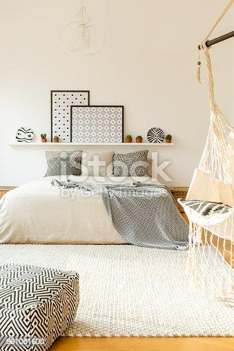 istock Scandi patterned bedroom interior 961081600