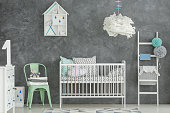 Scandi style baby boy room