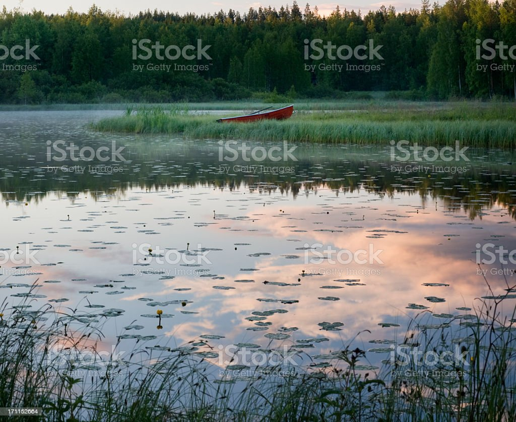 Scandinavia Finland Lake View stock photo