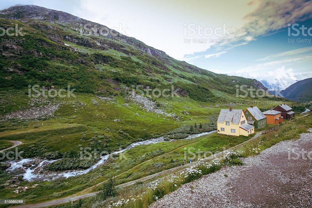 Scandinavia mountain stock photo