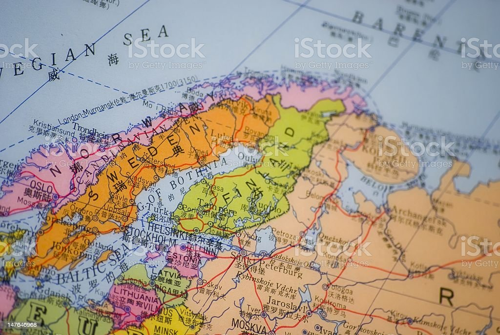 Cartina Geografica Norvegia Fisica.La Scandinavia Norvegia Svezia Finlandia Mappa Dettaglio Fotografie Stock E Altre Immagini Di Carta Geografica Istock