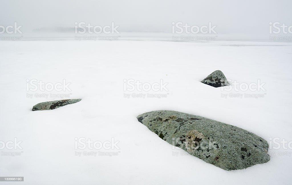 Scandinavia Winter Lake royalty-free stock photo