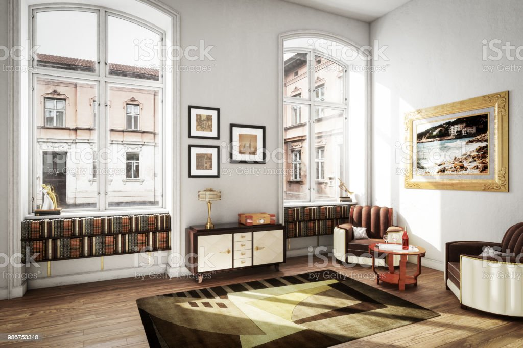 Scandinavian Art Deco Home Interior Stock Photo - Download ...