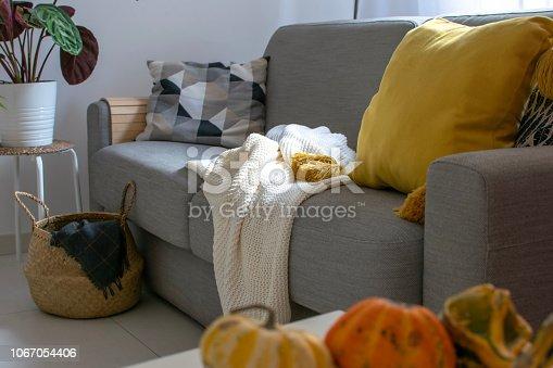 istock Scandinavian autumn inspired home decor 1067054406