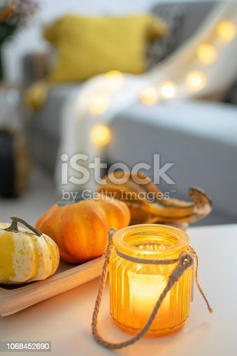 istock Scandinavian autumn inspired home decor 1068452690