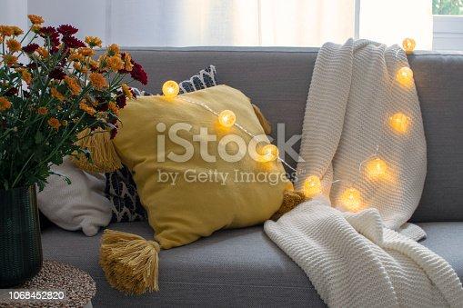 istock Scandinavian autumn inspired home decor 1068452820