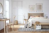 istock Scandinavian bedroom interior - stock photo 1248992411